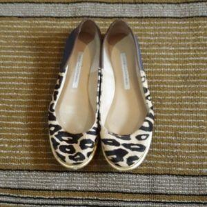 Diane Von Furstenberg Leopard Calf Hair Fl…